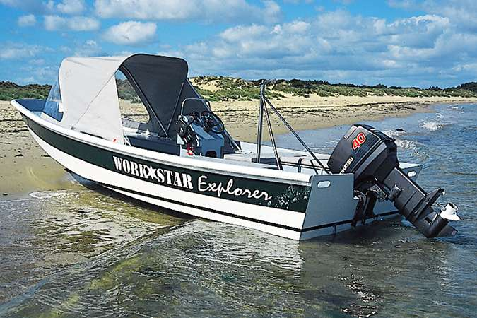 The Workstar 17 is a small garvey motorboat designed as a workboat, rescue boat or fishing boat
