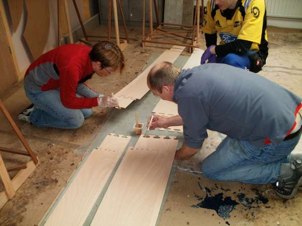 Wood Duck kayak supervised build – making joints